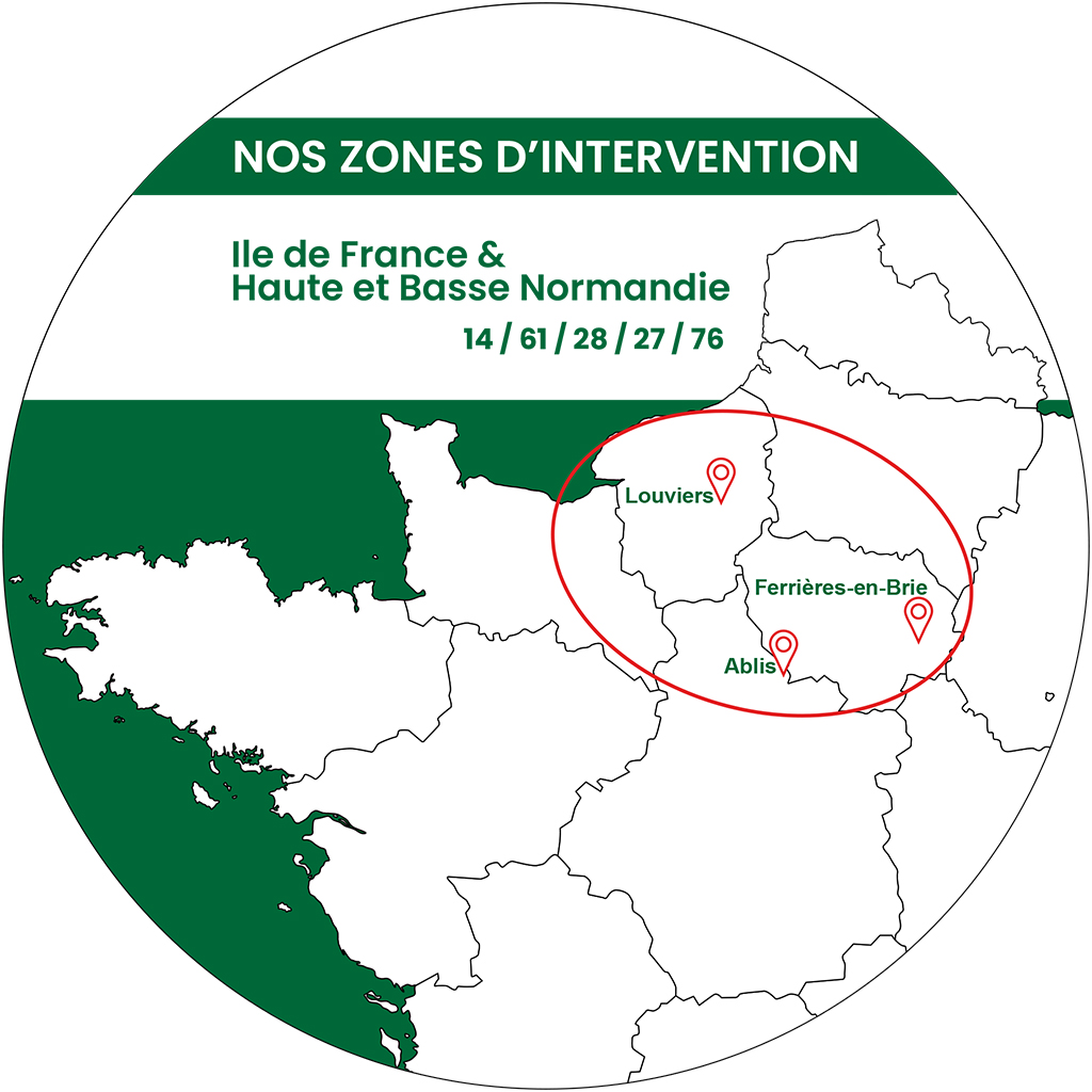 Nos agences Fraisage Services en Ille de France et Normandie